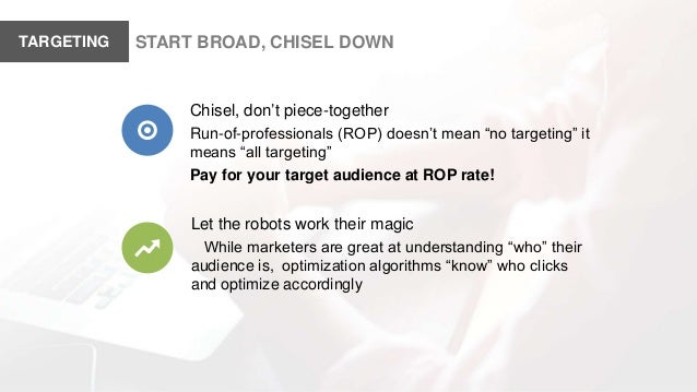 """START BROAD, CHISEL DOWNTARGETING Chisel, don't piece-together Run-of-professionals (ROP) doesn't mean """"no targeting"""" it m..."""