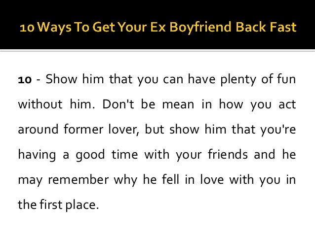 how to behave around your ex