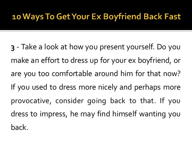 how to play hard to get with your ex boyfriend