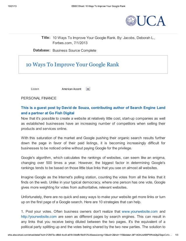 10 ways to_improve