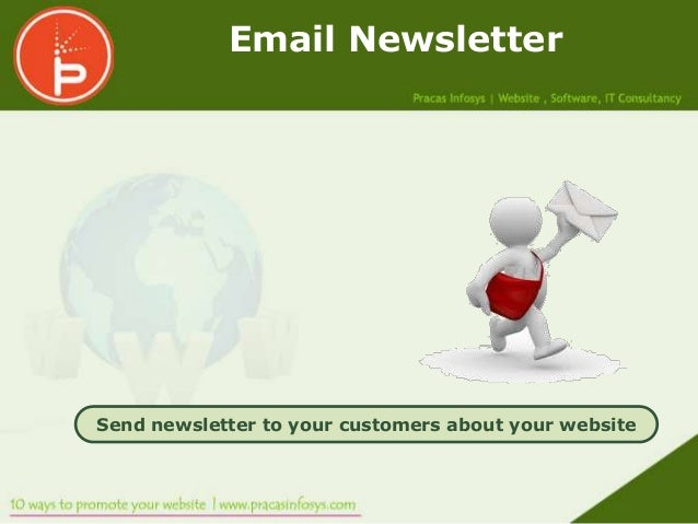 Email NewsletterSend newsletter to your customers about your website