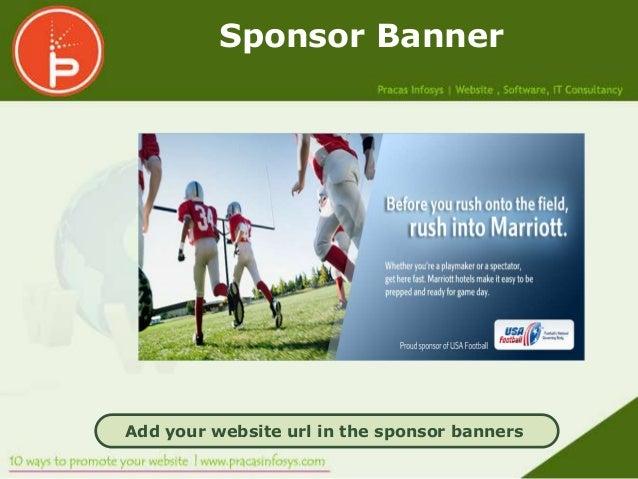 Sponsor BannerAdd your website url in the sponsor banners