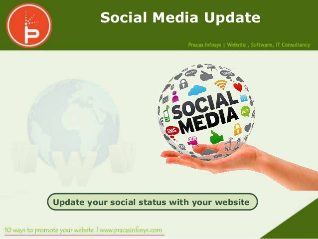 Social Media UpdateUpdate your social status with your website
