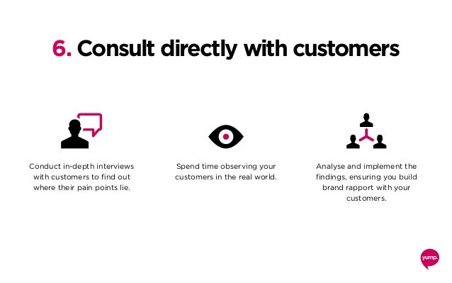 Conduct in-depth interviews with customers to find out where their pain points lie. Spend time observing your customers in...