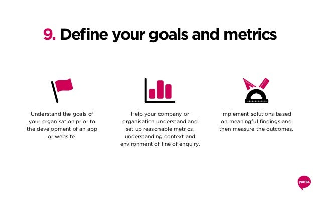 Understand the goals of your organisation prior to the development of an app or website. Help your company or organisation...