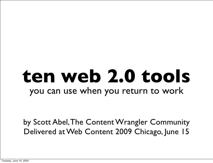 10 Web 2.0 Tools Marketers Can Use Today