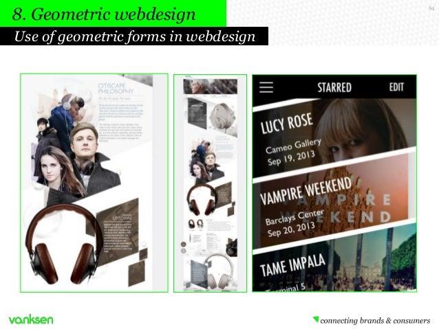 8. Geometric webdesign Use of geometric forms in webdesign  64