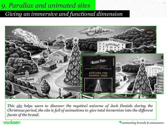 9. Parallax and animated sites Giving an immersive and functional dimension  This site helps users to discover the mystica...