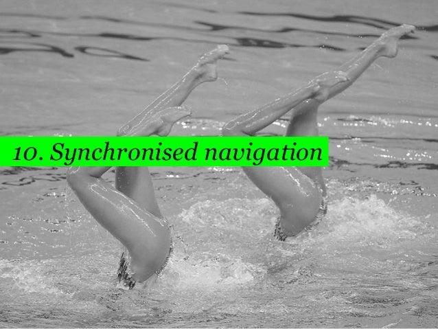 72  10. Synchronised navigation
