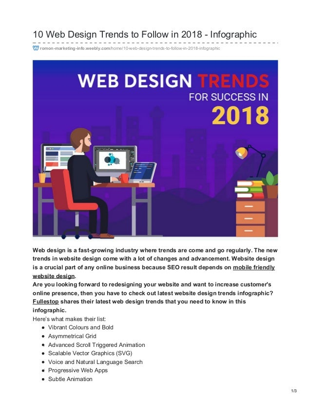 10 Web Design Trends to Follow in 2018 - Infographic romon-marketing-info.weebly.com/home/10-web-design-trends-to-follow-i...