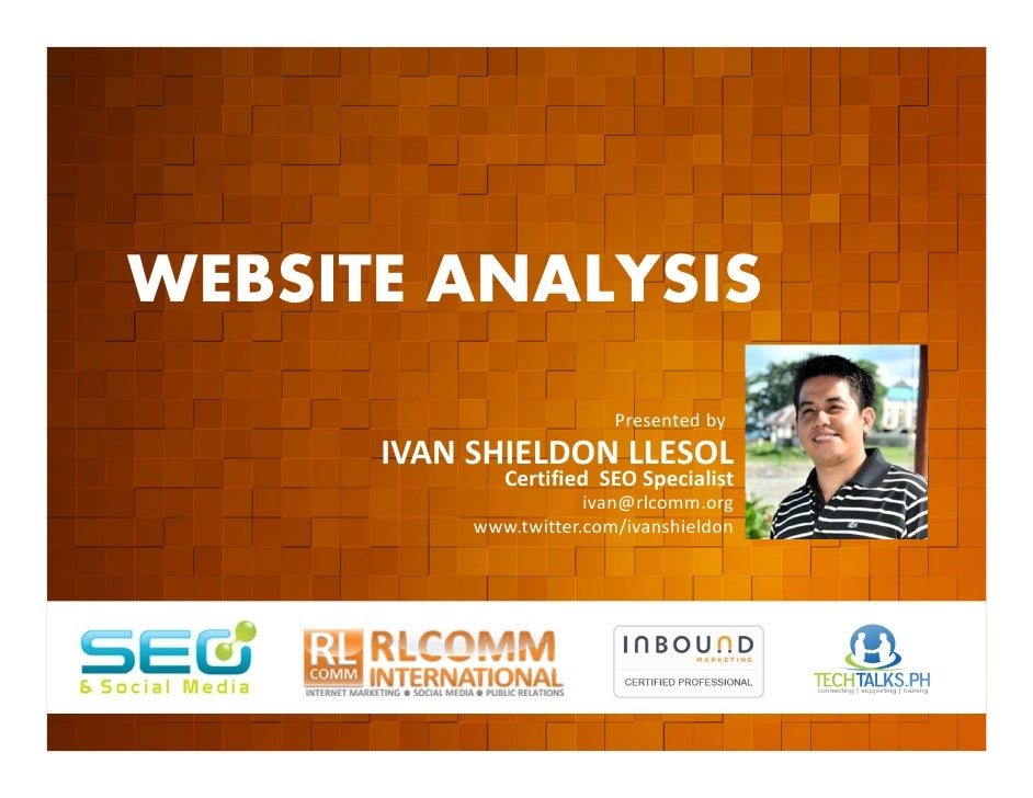WEBSITE ANALYSIS         EVENT ORGANIZED BY                                                  Presented by                 ...