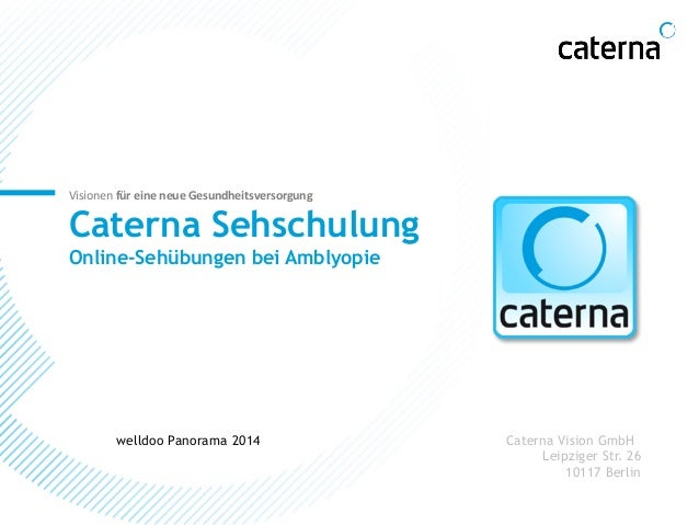 Visionen  für  eine  neue  Gesundheitsversorgung  Caterna Sehschulung  Online-Sehübungen bei Amblyopie  welldoo Panorama 2...