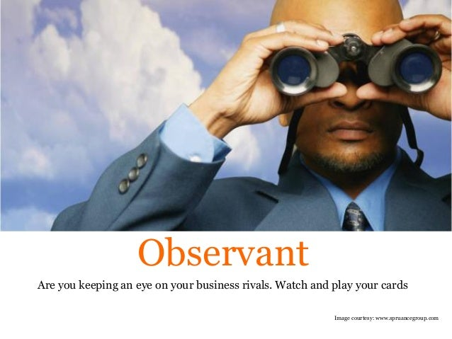 are you observant