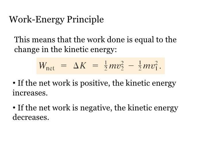 Physics : Work Energy Principle