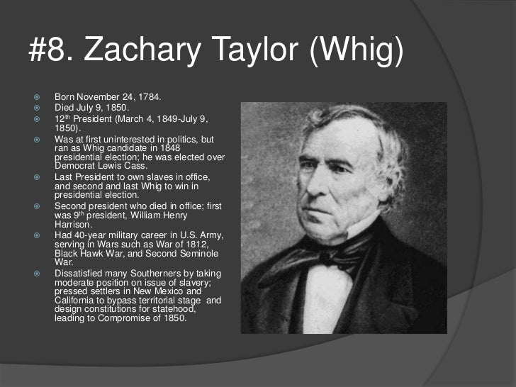 President Zachary Taylor dies unexpectedly