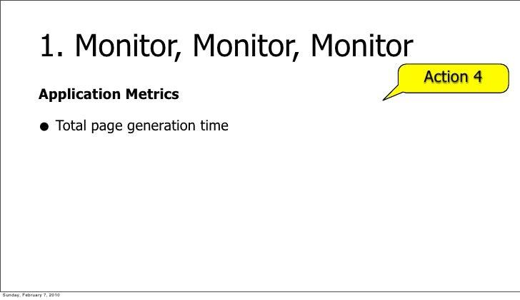 1. Monitor, Monitor, Monitor                                              Action 4               Application Metrics      ...