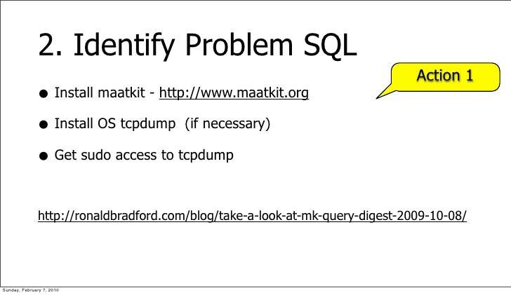 2. Identify Problem SQL                                                                               Action 1            ...