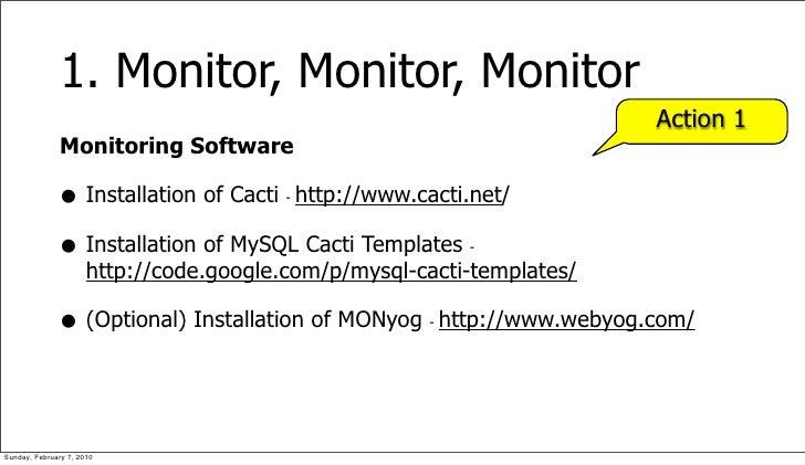 1. Monitor, Monitor, Monitor                                                                             Action 1         ...