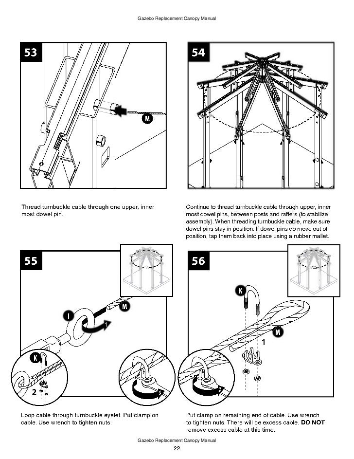 10 X 10 Ft Gazebo Assembly And Instructions Manual