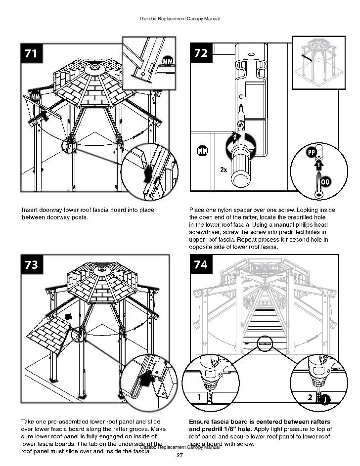 10 x 10 ft. gazebo assembly and instructions manual