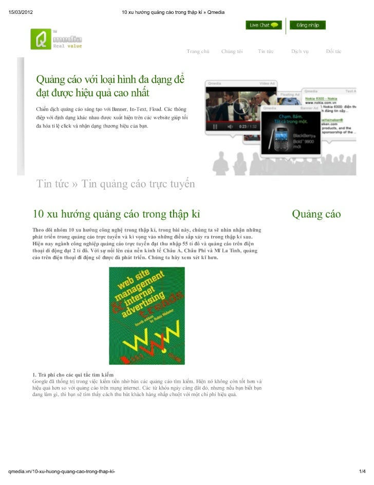 10 xu hướng quảng cáo trong thập kỉ » qmedia