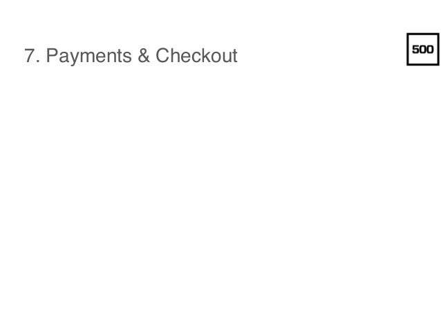 7. Payments & Checkout