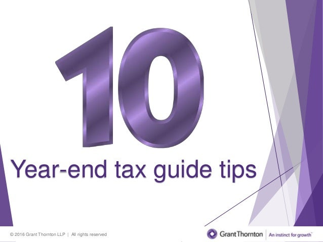10 Year-end tax guide tips