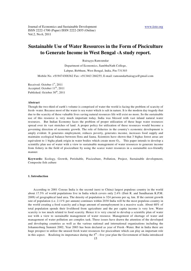 Journal of Economics and Sustainable Development                                                www.iiste.orgISSN 2222-170...