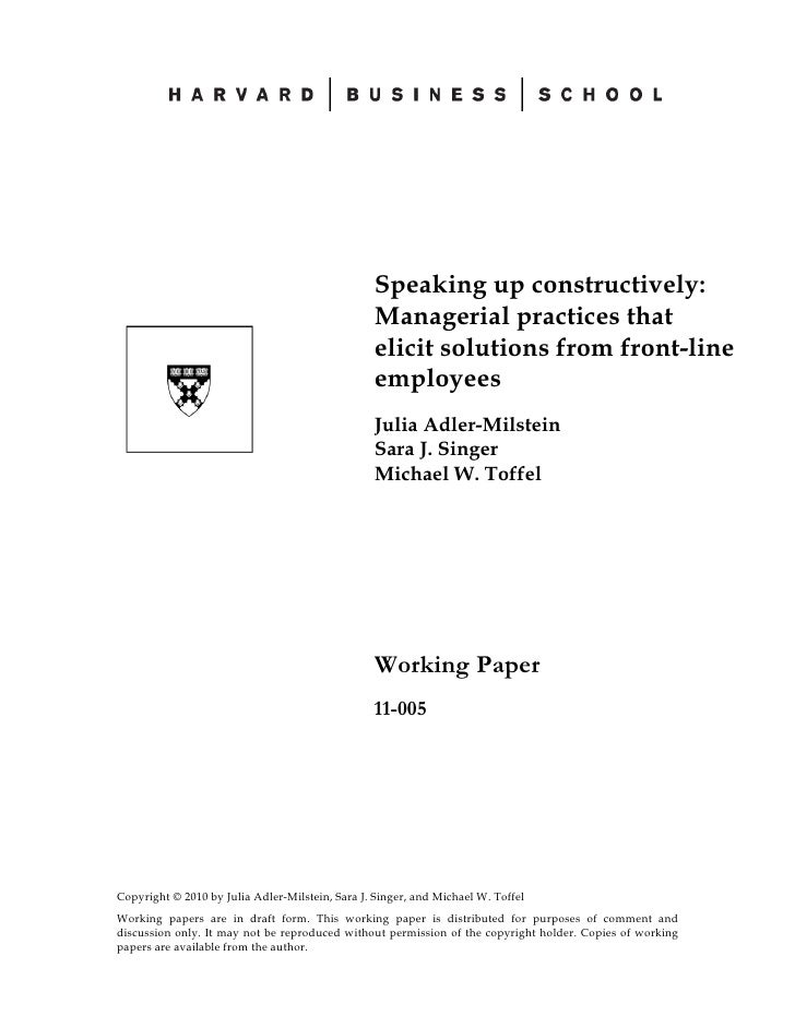 Speaking up constructively:                                                  Managerial practices that                    ...