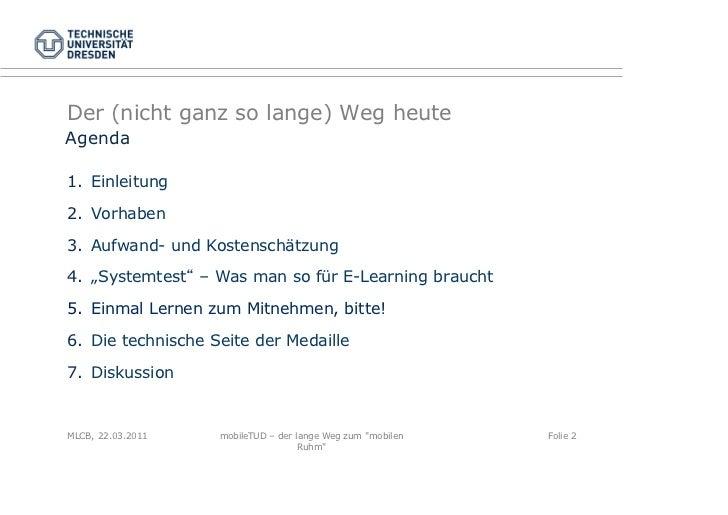 "mobileTUD – der lange Weg zum ""mobilen Ruhm"" Slide 2"