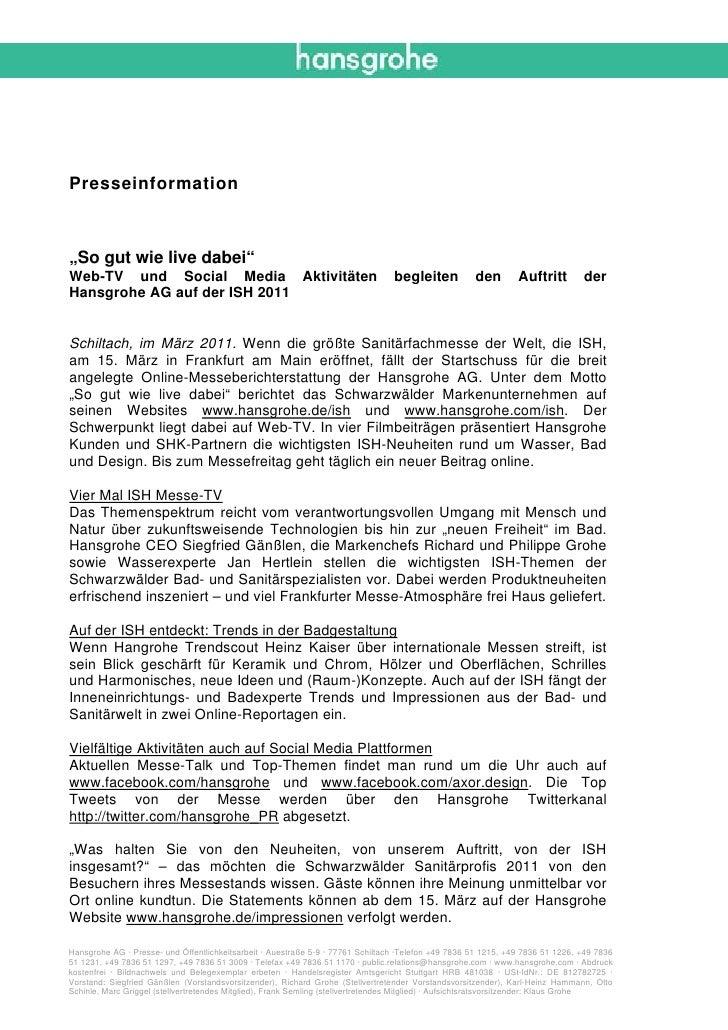 """Presseinformation""""So gut wie live dabei""""Web-TV und Social Media Aktivitäten                                              b..."""
