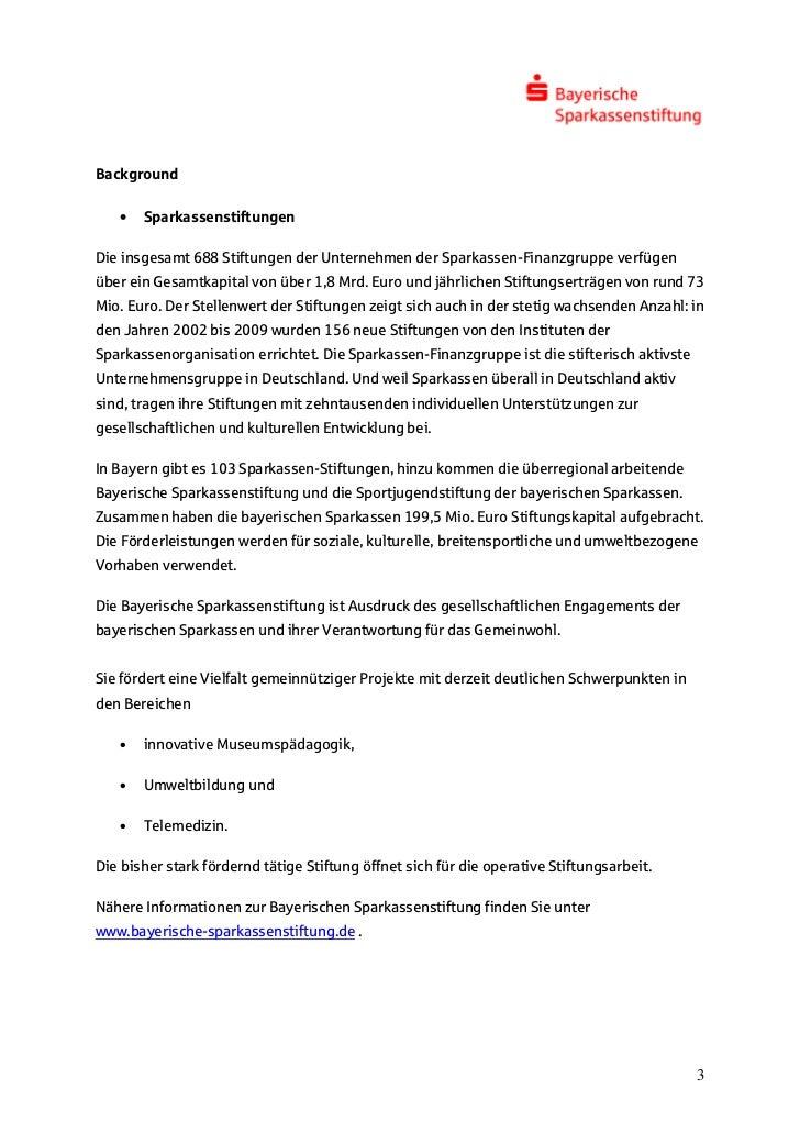 Background   •   SparkassenstiftungenDie insgesamt 688 Stiftungen der Unternehmen der Sparkassen-Finanzgruppe verfügenüber...