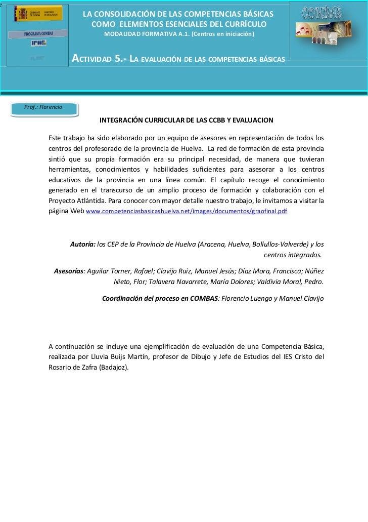 e                           LA CONSOLIDACIÓN DE LAS COMPETENCIAS BÁSICAS                             COMO ELEMENTOS ESENCI...