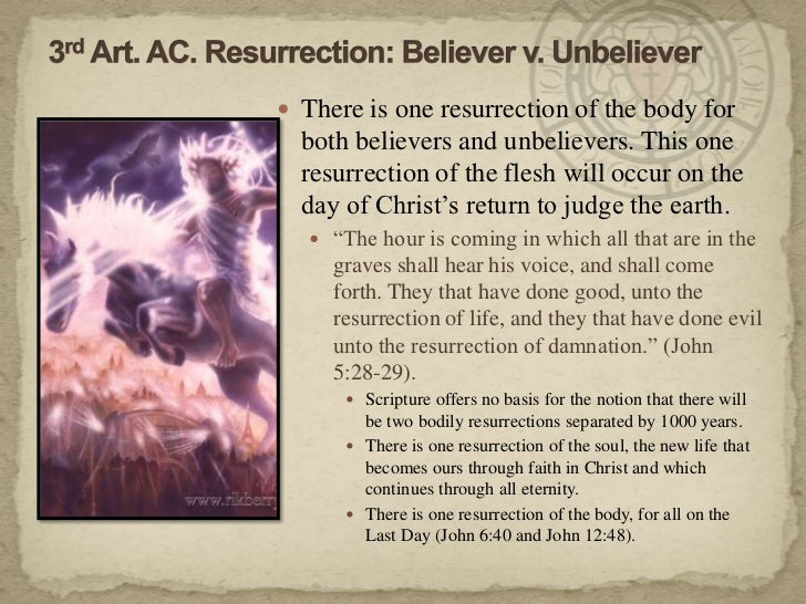 an essay on resurrection and the life everlasting 6 the resurrection and the life everlasting - dr des ford 1 the key to life and death the investigative judgment & the everlasting gospel.