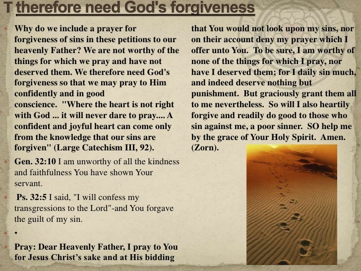 11 09 30 the lord's prayer 5th petition-and forgive us our trespasses…