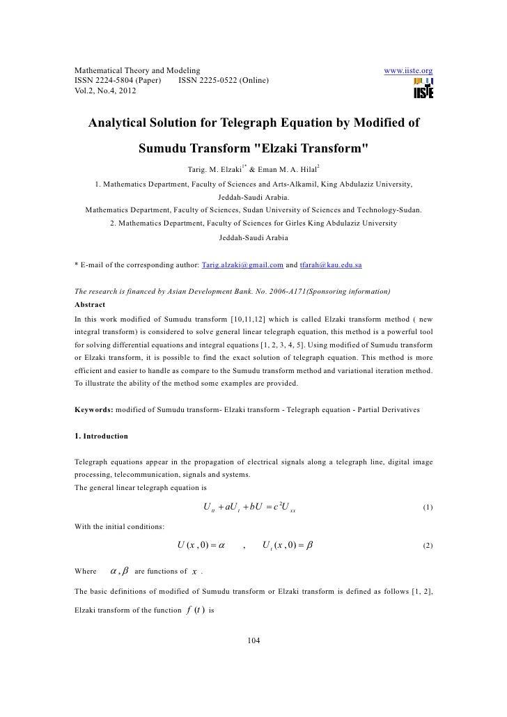 Mathematical Theory and Modeling                                                              www.iiste.orgISSN 2224-5804 ...