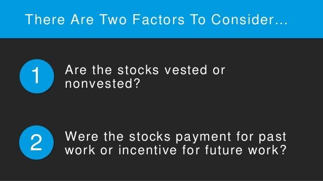 Divorce stock options vested