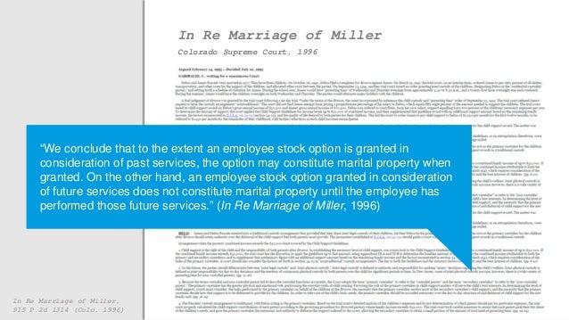 Stock options divorce ohio