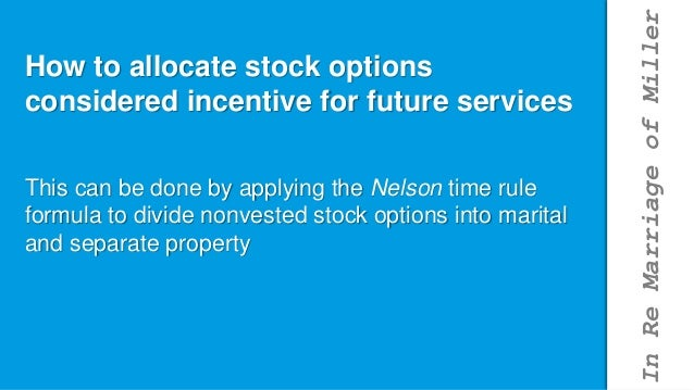 Stock options marital property