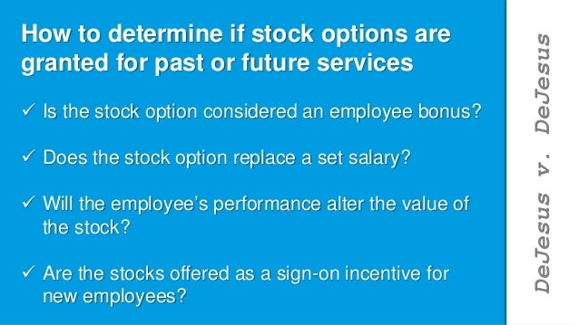 Stock options classes