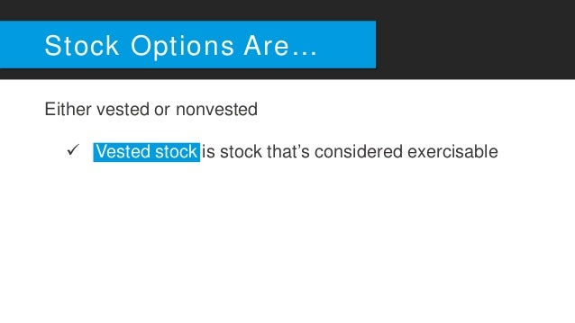 Stock options during divorce