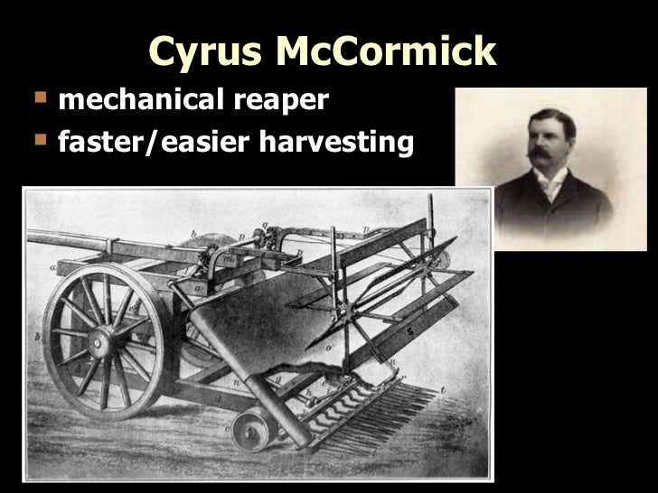 Image result for cyrus mccormick mechanical reaper
