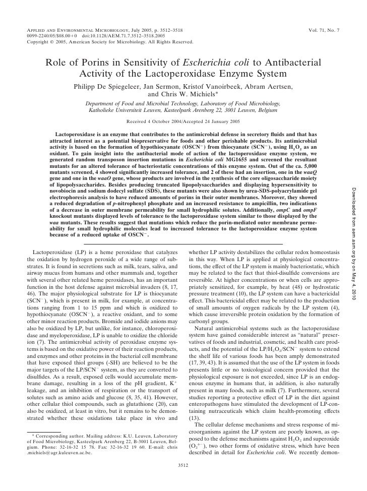 APPLIED AND ENVIRONMENTAL MICROBIOLOGY, July 2005, p. 3512–3518                                                           ...