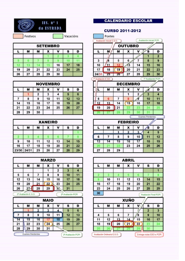 11 12 calendario