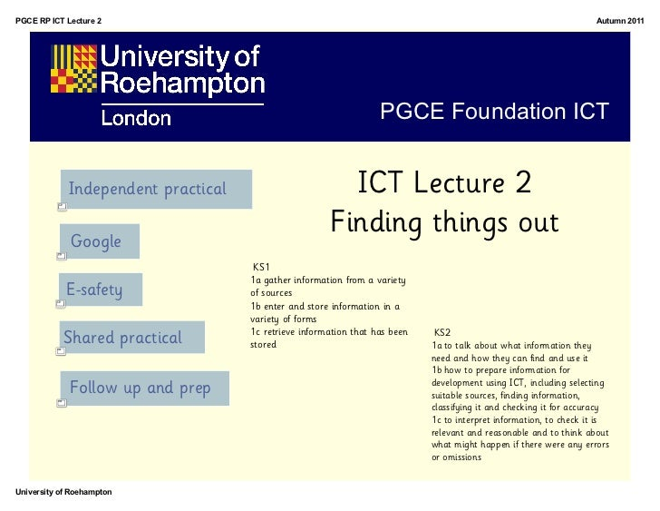 PGCE RP ICT Lecture 2                                                                                               Autumn...