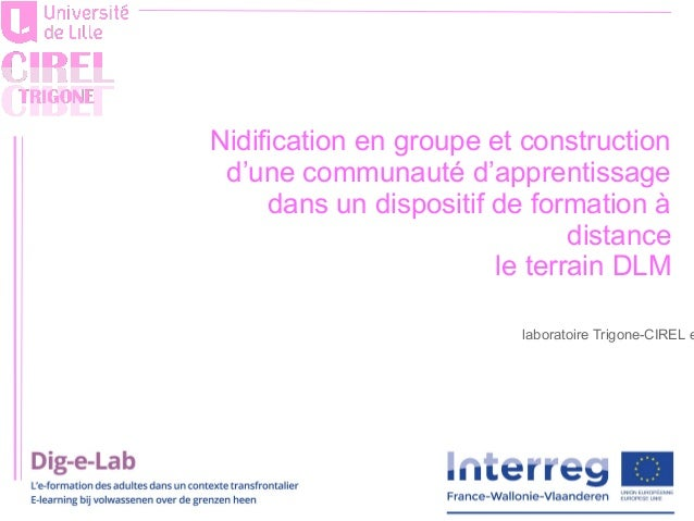 laboratoire Trigone-CIREL e Nidification en groupe et construction d'une communauté d'apprentissage dans un dispositif de ...