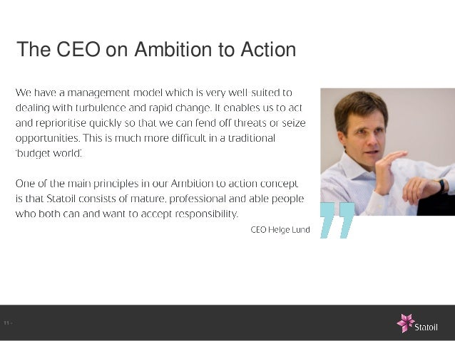 The CEO on Ambition to Action11 -