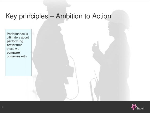 Key principles – Ambition to Action     Performance is     ultimately about     performing     better than     those we   ...