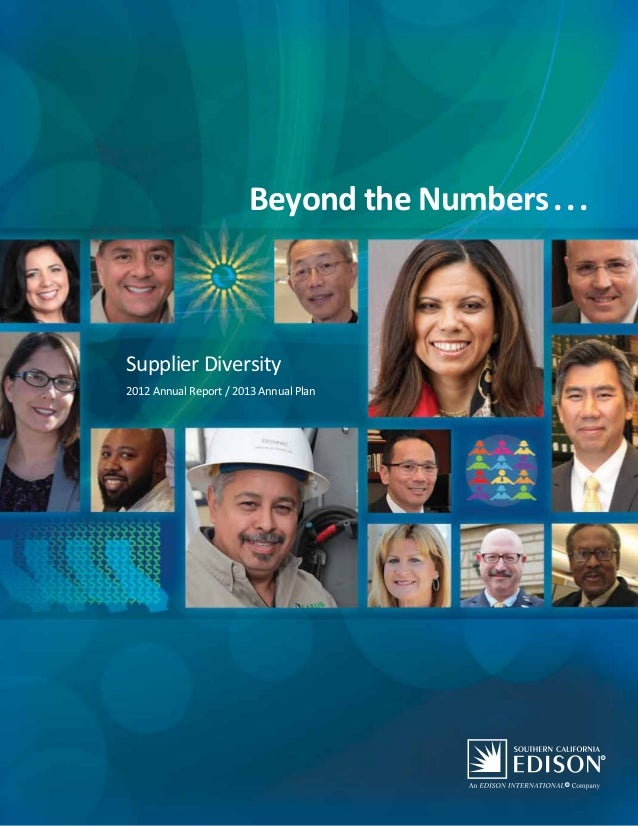 2012 ANNUAL REPORT / 2013 ANNUAL PLAN   Beyond the Numbers. . .   PAGE 1                                        Beyond the...
