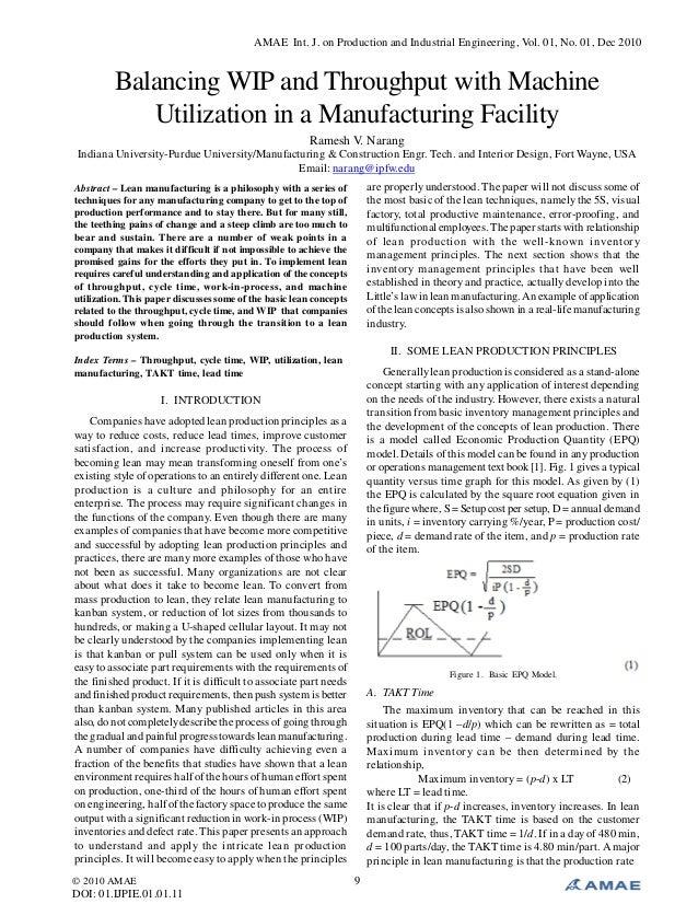 AMAE Int. J. on Production and Industrial Engineering, Vol. 01, No. 01, Dec 2010 © 2010 AMAE DOI: 01.IJPIE.01.01.11 9 Bala...